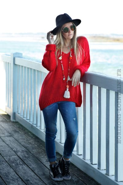pull-grosses-mailles-rouge-100