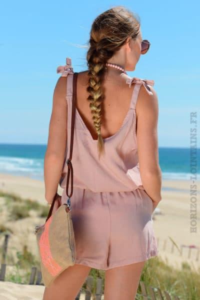 Combie-short-bretelles-avec-nœuds-rose-poudré-b1-2