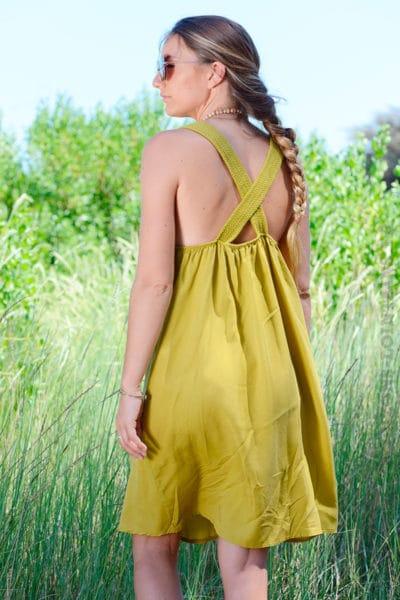 Robe-vert-olive-avec-bretelles-croisées-dans-le-dos--b40-2