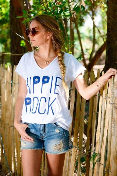 T-shirt-blanc-message-hippie-rock-b146-2