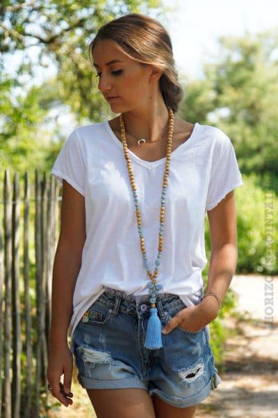 T-shirt-blanc-tete-de-buffle-argentée-dans-le-dos-B150-3