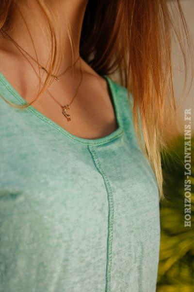 T-shirt-vert-en-lin-avec-coutures-exterieurs-2-B154