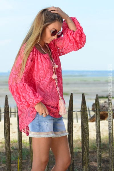 Top-B036-blouse-brodee-manches----bouffantes-framboise