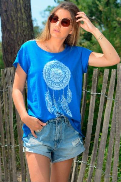 Tshirt-bleu-roi-dreamcatcher