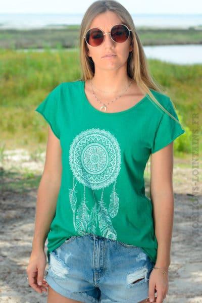 Tshirt-vert-dreamcatcher-b145