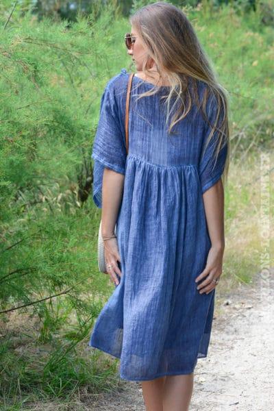 robe-B043-fluide-doublee-col-v-petites-frange-bleu-jean-