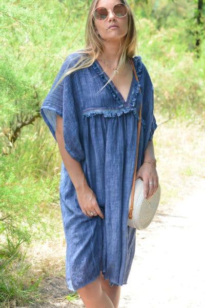robe-B043-fluide-doublee-col-v-petites-frange-bleu-jean--