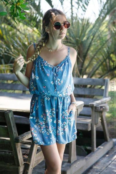 Combi-short-motif-fleuri-bleu-b03
