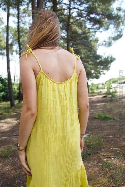 Robe-jaune-mi-longue-bretelles-à-nouer-B68-6