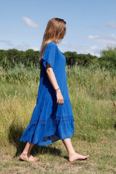 Robe--longue-bleu-roi-col-V-en-voile-de-coton-doublé--b66