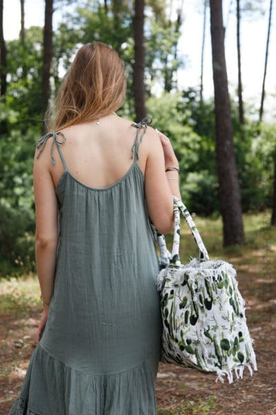 Robe-vert-kaki-mi-longue-bretelles-à-nouer--B68-4