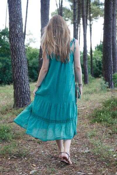 Robe-verte-mi-longue-bretelles-à-nouer-B68-3
