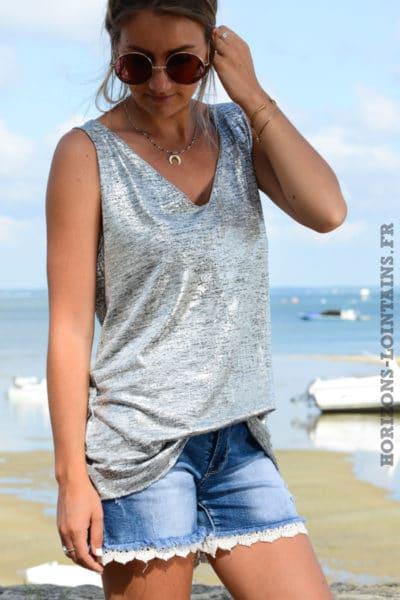 top-B163-debardeur-col-v-gris-argentee-brillant-