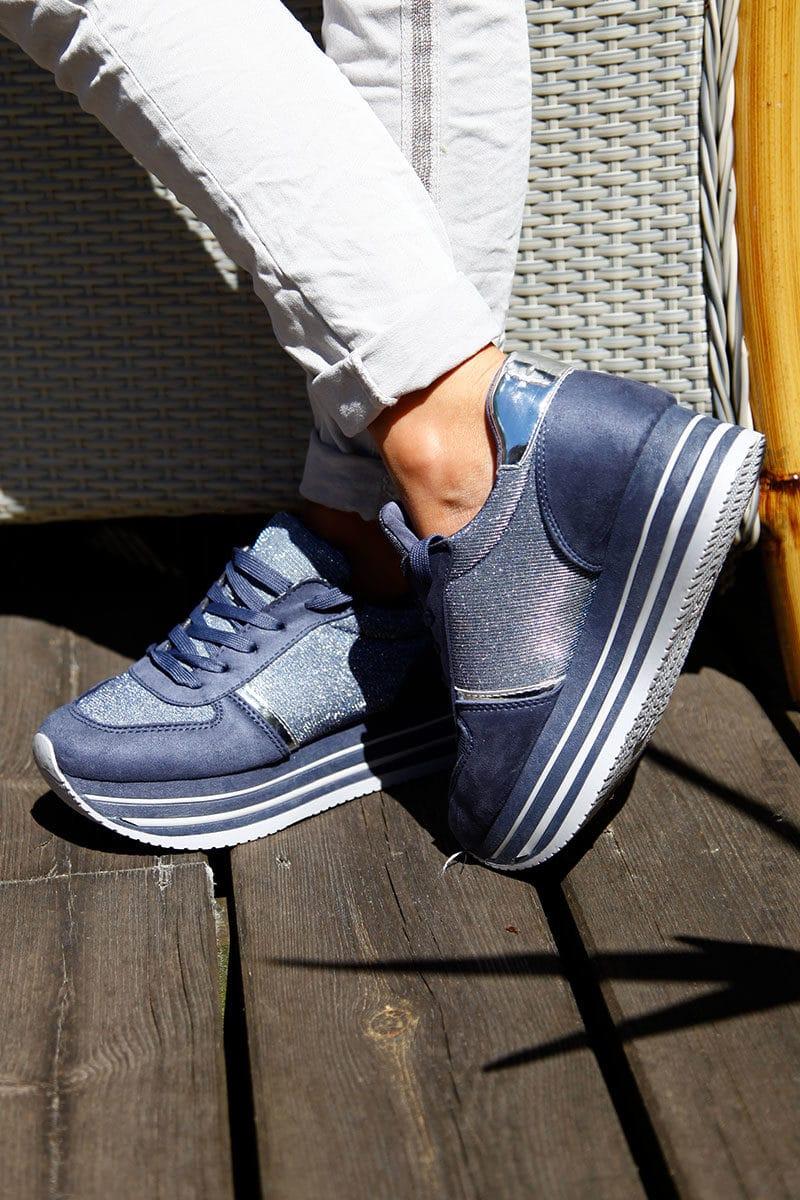 Baskets-running-bleues-et-argent-plateforme--b25-2