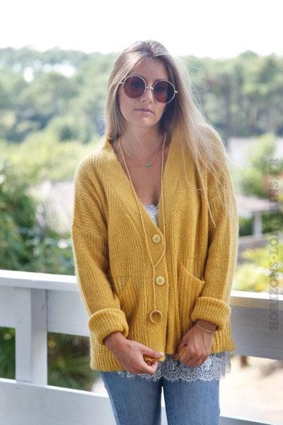 Gilet-jaune-moutarde-mailles-avec-poches--b12