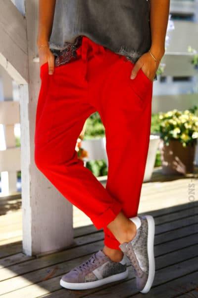 Pantalon-de-jogging-rouge-urbain-à-poches-04-5