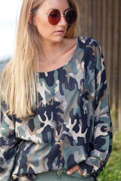 Tunique-fluide-imprimé-camouflage-b186
