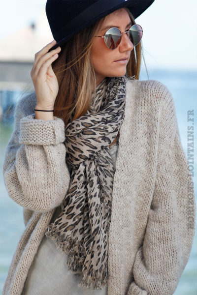 GILET-GROSSES-MAILLE-BEIGE-TAUPE-CHINE-CONFORT-B17