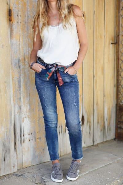 Jean-ceinture-tissus-avec-imprimés-b19-5 40d0a6a215c
