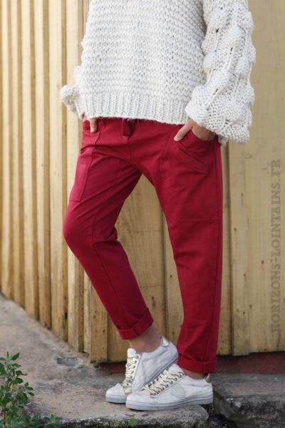 Pantalon-de-jogging-rouge-bordeaux-urbain-à-poches-04