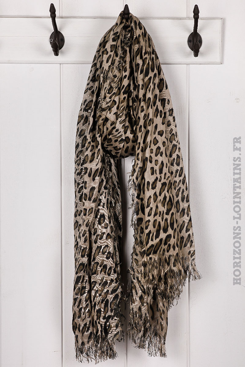 78be50a56122 Écharpe imprimé léopard accessoire mode pour femme collection automne