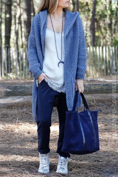 Pantalon de jogging femme bleu marine confortable