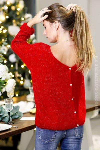 Gilet-rouge-réversible-pull-vêtements-femme-chic-look-moderne