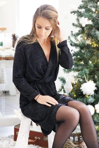 Robe-noire-avec-brillant-décolleté-cache-coeur-fete-reveillon-noel-b82