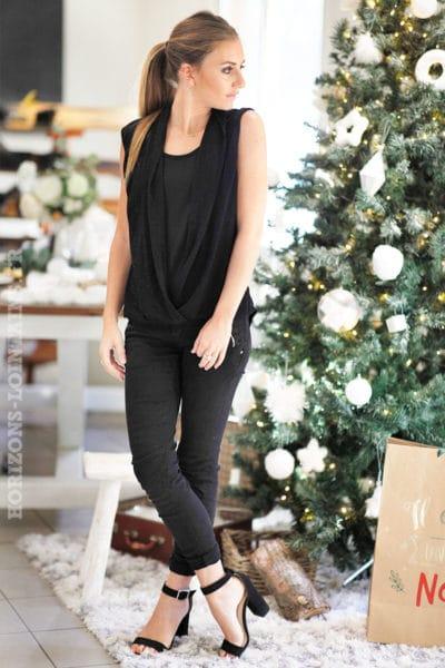 Top-noir-manches-courtes-avec-brillants-fete-noel-reveillon-look-b238