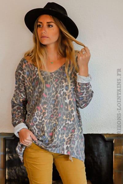 pull-avec-imprimé-léopard-coloré-look-femme-moderne
