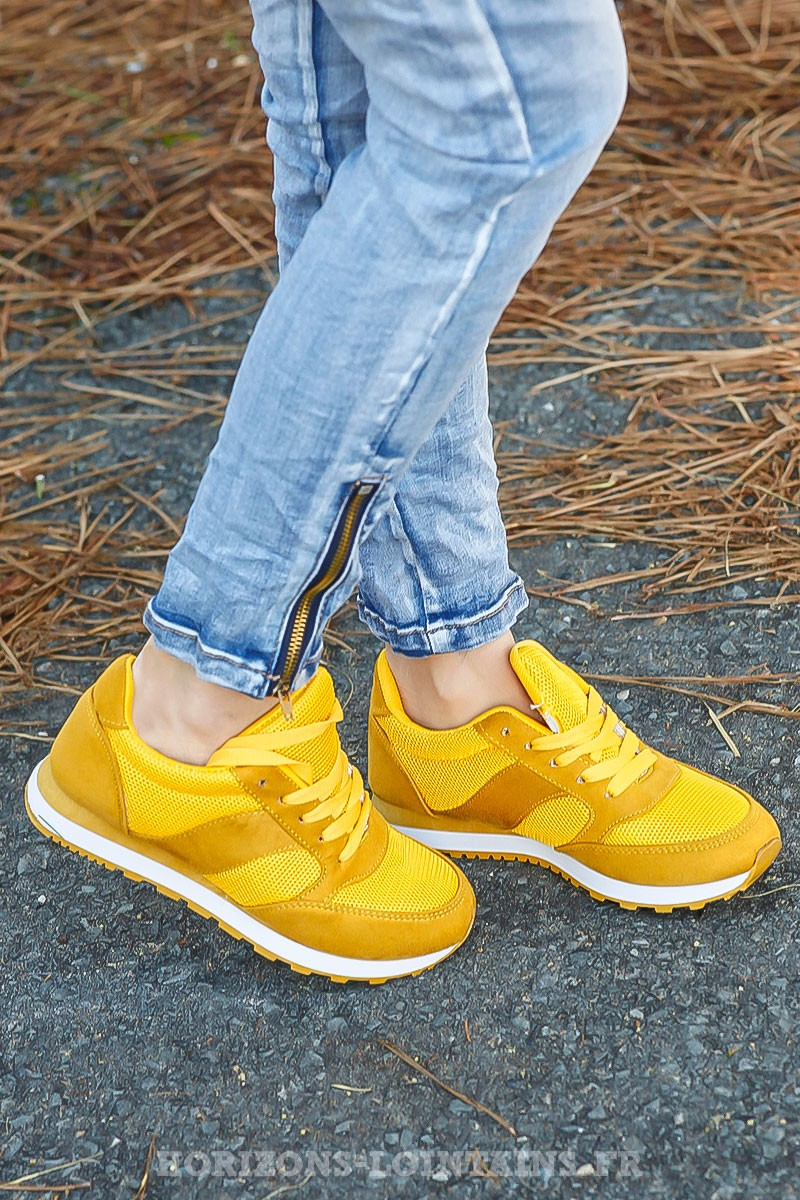 Baskets jaunes