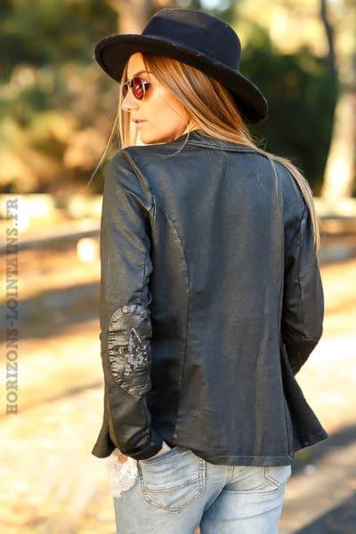 Blazer-huilé-noir-étoiles-sequins-coudes-veste-noire-femme-C001