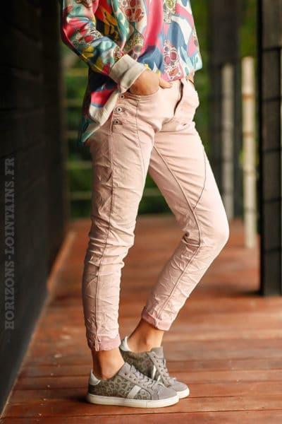 Jean-stretch-rose-poudré-boutons-poches-pantalon-femme-look-moderne-C007