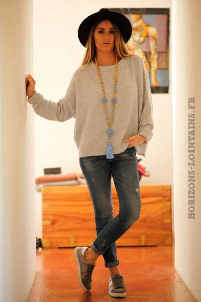 Pull-gris-col-rond-coupe-loose-C16-7