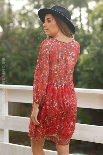 Robe-rouge-imprimé-fleurs-voilage-doublé-c6-boheme-chic-6