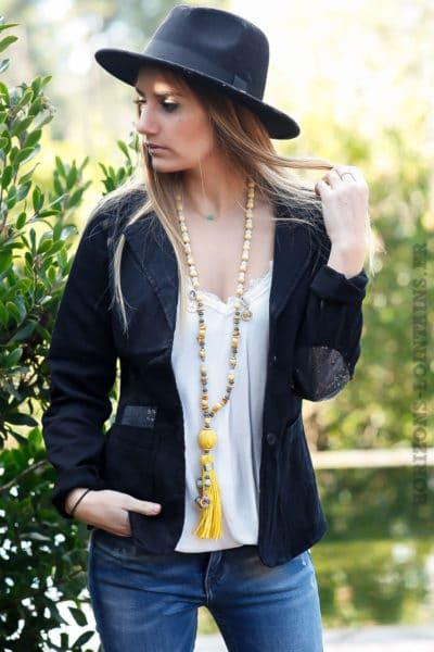 blazer-noir-cintré-avec-details-sequins-transparents-veste-noire-femme-look-tendance-dos