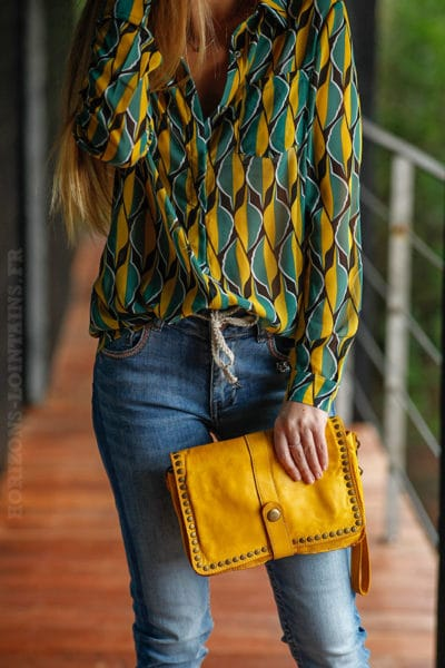 sac-pochette-cuir-jaune-moutarde
