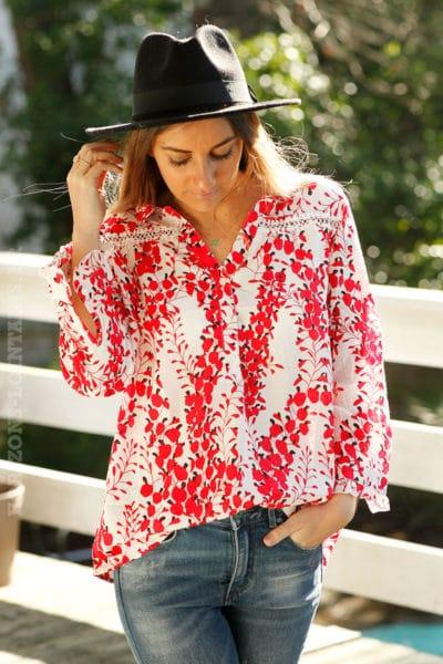 Blouse-col-chemise-imprimé-rouge-c26-broderie