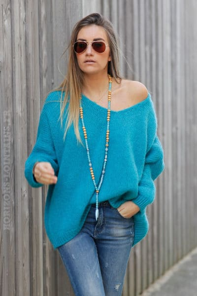 Pull-turquoise-coupe-loose-c54