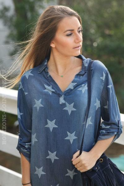 Robe-bleu-jean-avec-étoiles-c12-style-street-plage