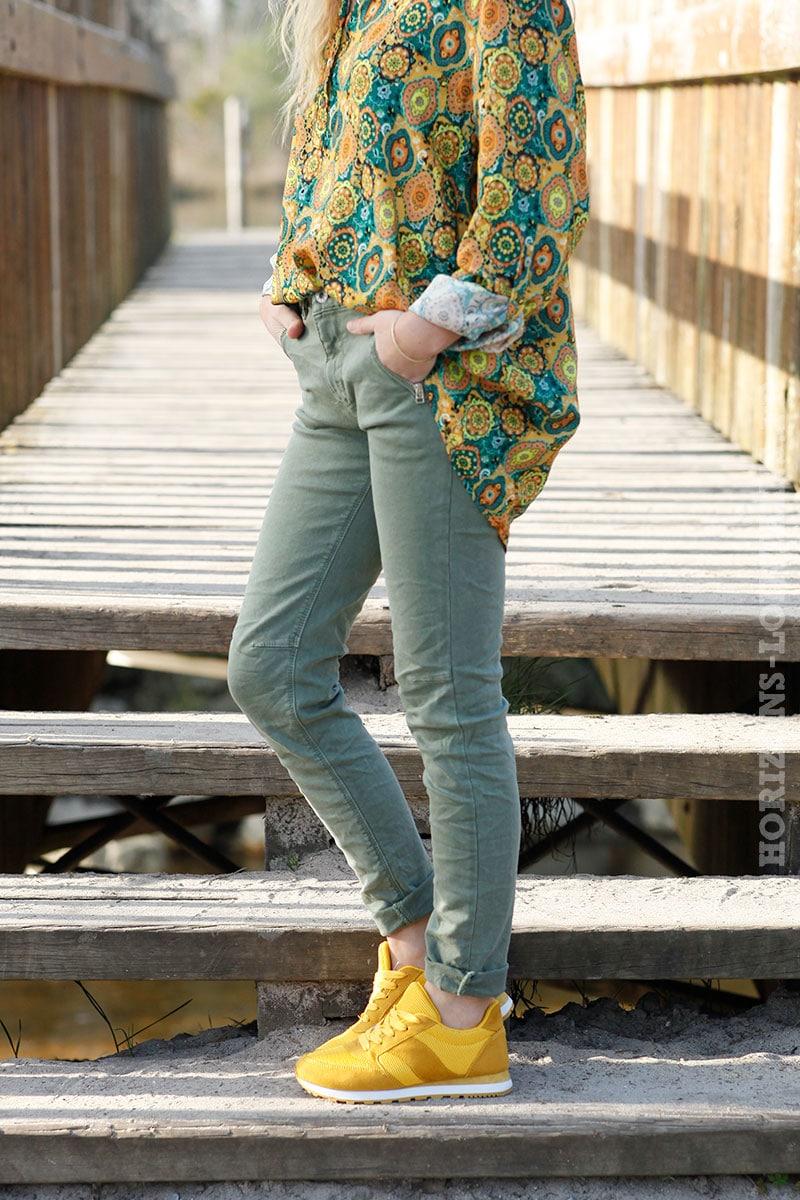jean poche zippée kaki clair 405