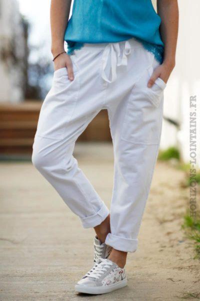 pantalon-jogging-urbain-blanc-femme-poches-look-street-wear
