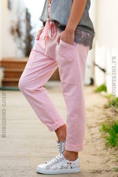 pantalon-jogging-urbain-rose-pâle-femme-poches-look-street-wear-côté