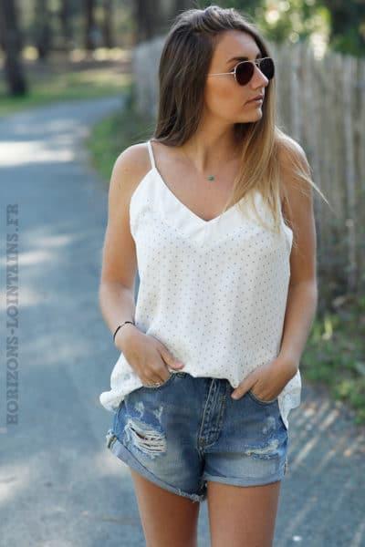 Caraco-satiné-blanc-petites-étoiles-c65