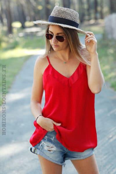 Caraco-satiné-rouge-petites-étoiles-c65