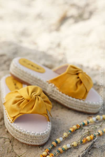 Mules-jaune-moutarde-plateforme-corde-avec-noeud-c09-sandale