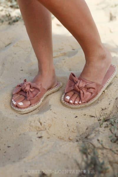 Mules-vieux-rose-suédine-nœuds-sandale-été-c08-4