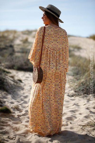 Robe-longue-jaune-imprimé-fleurs-c38-boheme-boho-hippie-7