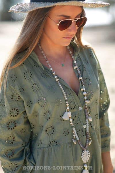 Robe-verte-kaki-avec-broderie-anglaise-style-dentelle-idée-tenue-femme-moderne