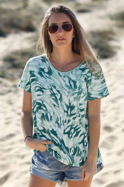 T-shirt-nuances-de-vert-c80